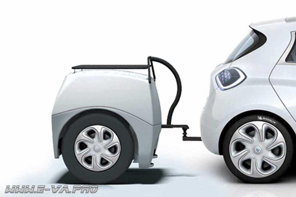 Французские разработчики представили прицеп с генератором электричества для автомобилей.