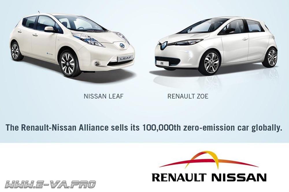 Половина мирового автопарка электромобилей произверена на «Renault-Nissan»