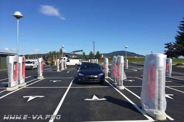 В Норвегии открылась самая большая заправка для электромобилей