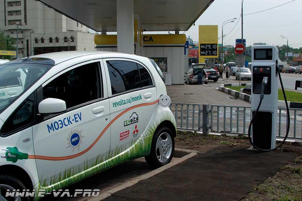 в Москве появились устройства для зарядки электрокаров