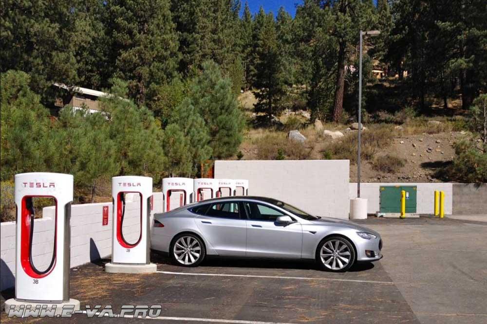Дополнительная плата за простой на станциях зарядки Supercharger