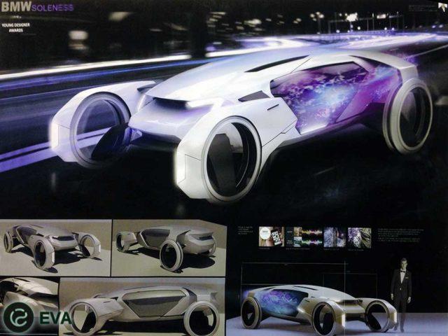 концепт электромобиля, с которым Глеб Данилов выиграл конкурс молодых дизайнеров, организованный БМВ
