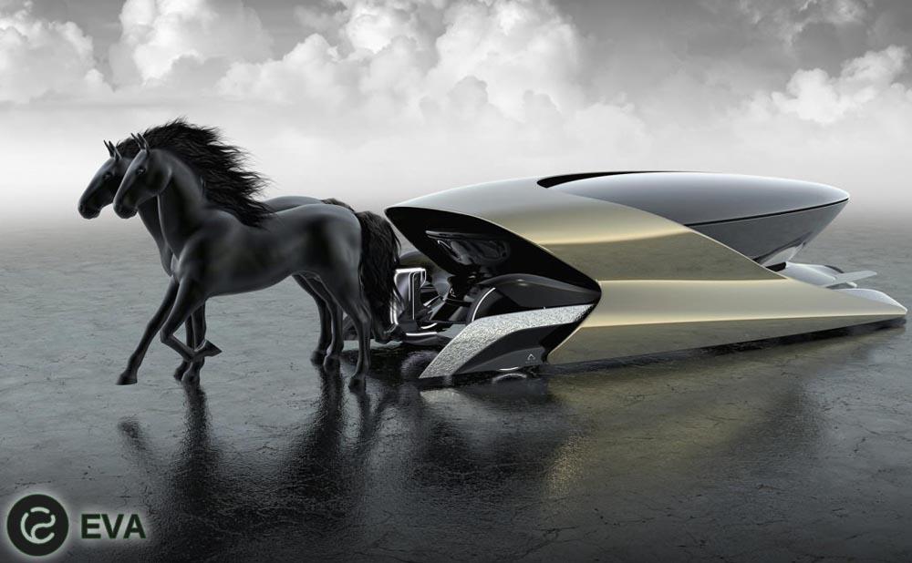 Viva: электрокарета с живыми лошадьми