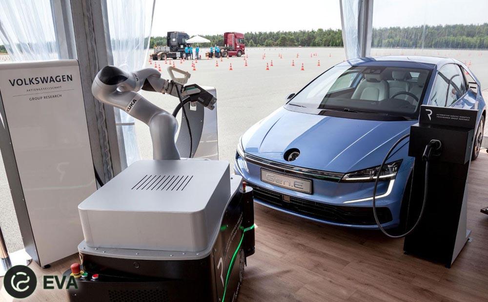 Volkswagen: электрокар Gen.E и робот-заправщик
