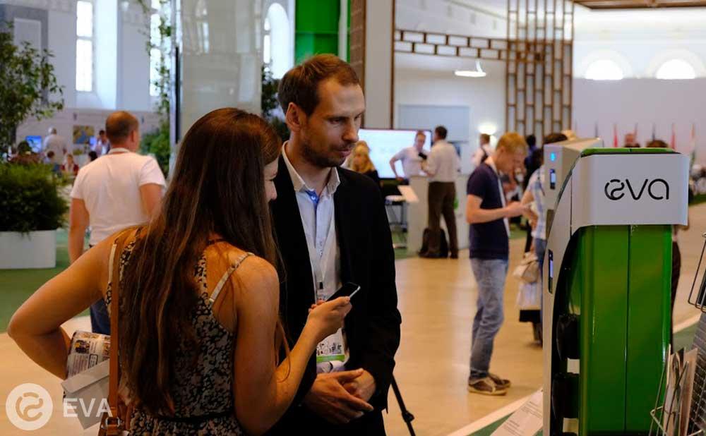 Компания Ева - российские электрозаправки - на Климатическом форуме городов России-2017