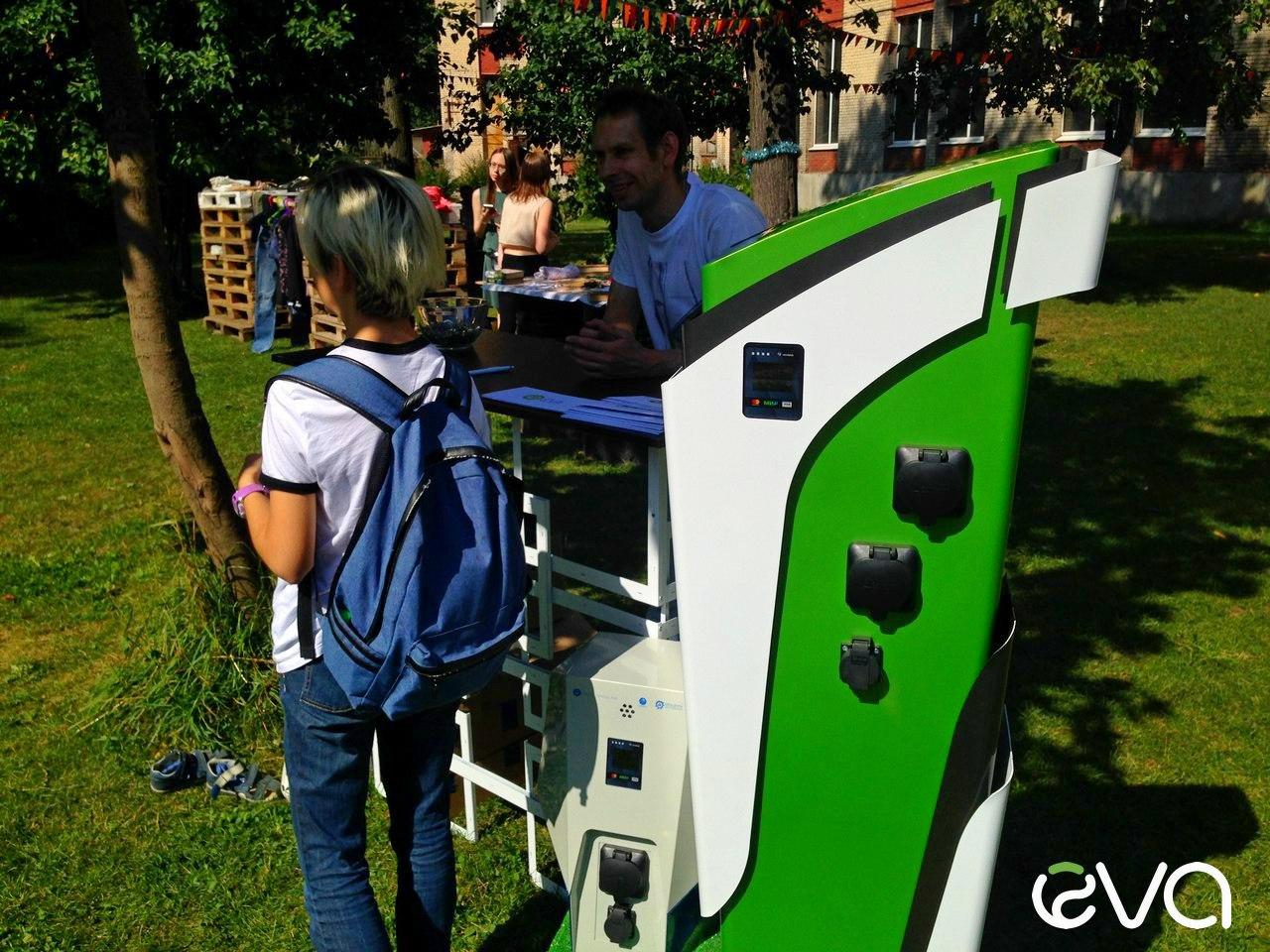 Электрозаправки EVA Nature и EVA Future на экофестивале в СПб