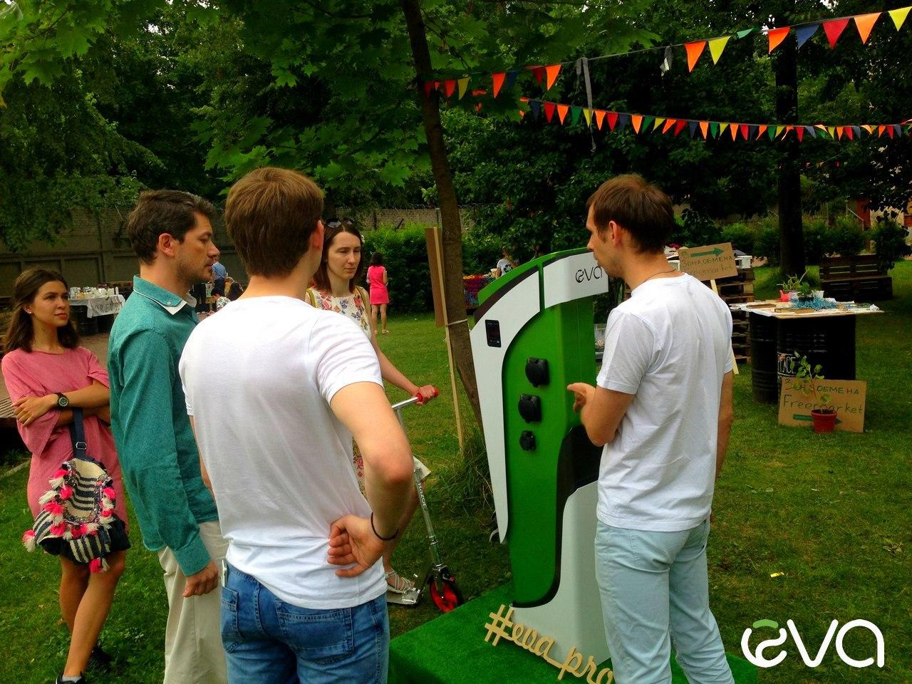 Российские электрозарядные станции EVA выставлены на экофестивале Green Village в Петербурге