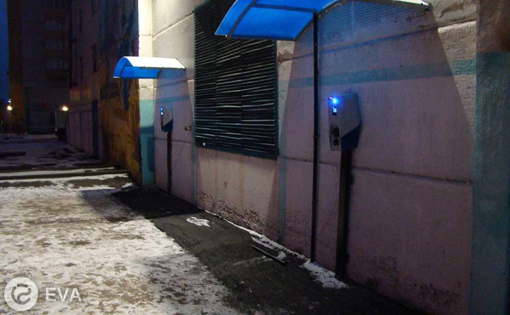 первые электрозаправки EVA в Воронеже