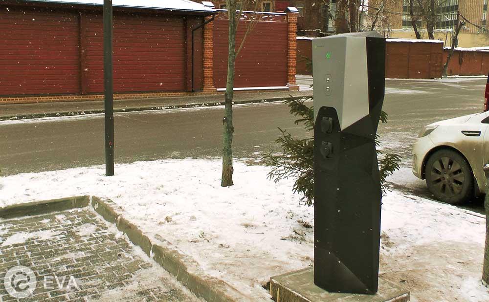 зарядная установка для электромобилей в Москве - станция EVA российского производства