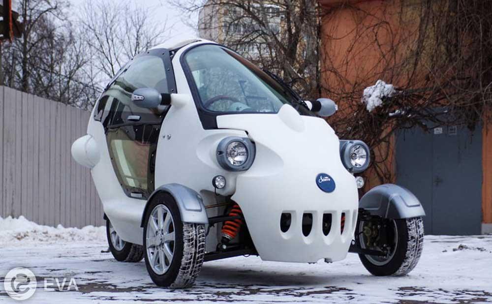 В Москве представили отечественный электрокар на трех колесах
