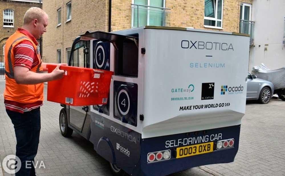 Робомобиль доставляет покупки лондонцам